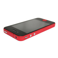 Decor Color Edge iPhone 4 4s Bumper stickers Skin - Rood