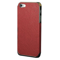 Luxe gouden hoesje iPhone 5 5s SE Hardcase Chique - Rood