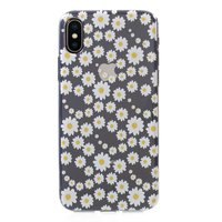 Madeliefjes hoesje TPU case iPhone X XS - Transparant