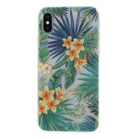 Tropische bladeren bloemen hoesje iPhone X XS - Transparant