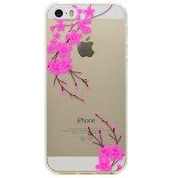 Bloesem tak sierlijk hoesje TPU case iPhone 5 5s SE - Doorzichtig Roze
