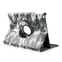 Camouflage hoes legerprint cover iPad 2017 2018 - Groen Wit Zwart