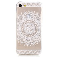 Transparante Mandala iPhone 7 8 TPU hoesje - Wit
