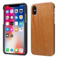 Kersenhout hoesje iPhone X hardcase - bruin