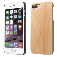 Licht houten hoesje wood case iPhone 7 Plus 8 Plus - Lichtbruin