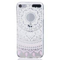 Mandala transparant hoesje patroon TPU case iPod Touch 5 6 - Wit Lichtroze
