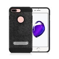 Mozaïek hoesje standaard TPU kunststof hybride case iPhone 7 Plus 8 Plus - Zwart