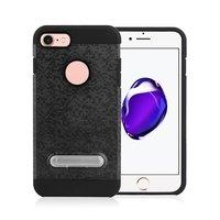 Mozaïek hoesje standaard TPU kunststof hybride case iPhone 7 8 - Zwart
