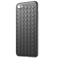 Baseus Weaving Case geweven iPhone 7 8 TPU hoesje - Zwart