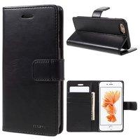 Mercury Blue Moon Bookcase wallet iPhone 6 6s Hoesje - Zwart Lederen