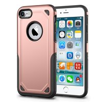 Shockproof hoesje Pro Armor iPhone 7 - Protection Case Rose Gold - Extra Bescherming