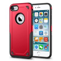 Shockproof Pro Armor iPhone 7 hoesje - Protection Case Rood - Extra Bescherming - Red