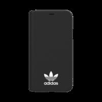 Adidas Booklet Case iPhone X XS hoesje met flap - Zwart Wit