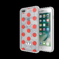 adidas Clear Case 70's FW17 iPhone 6 Plus 6s Plus 7 Plus 8 Plus doorzichtig hoesje - Rood Wit