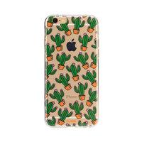 FLAVR iPlate cactus hoesje iPhone 6 6s - Transparant Groen Oranje