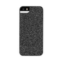 FLAVR iPlate glamour glitter shine iPhone 5 5s SE 2016 hoesje - Zwart