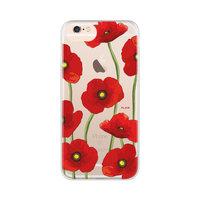 FLAVR iPlate klaproos bloem hoesje iPhone 6 6s 7 8 SE 2020 - Rood