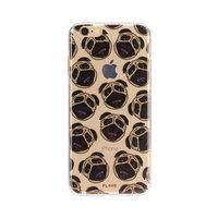 FLAVR iPlate mopshond puppy hoesje iPhone 6 6s 7 8 - Bruin