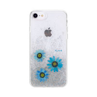 FLAVR iPlate Echte Bloem Julia iPhone 6 6s 7 8 SE 2020 Blauw Case - Blue Case