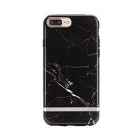 Richmond & Finch Black Marble hoesje iPhone 6 Plus 6s Plus 7 Plus 8 Plus- Black Case - Zwart