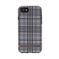 Richmond & Finch Checked Black Details - iPhone 6 6s 7 8 hoesje - Zwart Grijze Case
