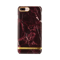 Richmond & Finch Marble Glossy iPhone 7 Plus 8 Plus Rood Hoesje - Red Case