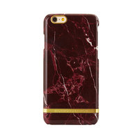 Richmond & Finch Marble iPhone 6 6s Rood Hoesje - Red Case