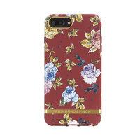 Richmond & Finch Red Floral iPhone 6 Plus 6s Plus 7 Plus 8 Plus Rood Hoesje - Red Case