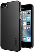 Spigen Thin Fit iPhone 5 5s SE 2016 zwart hoesje - Black Case