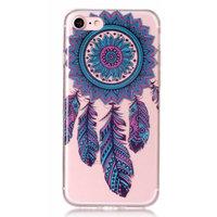 Doorzichtig Dromenvanger TPU iPhone 7 8 - Blauw Paars