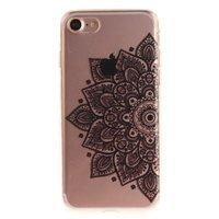 Doorzichtig Mandala iPhone 7 8 TPU hoesje - Zwart