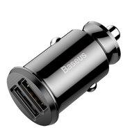 Baseus Universele Dual USB Autolader 3.1 Ampère - Zwart