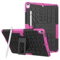 Hybride TPU Polycarbonaat iPad Air 3 (2019) & iPad Pro 10.5 inch case - Roze Profiel Standaard