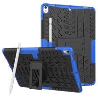 Hybride TPU Polycarbonaat iPad Air 3 (2019) & iPad Pro 10.5 inch case - Blauw Profiel Standaard