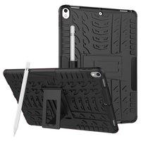 Hybride TPU Polycarbonaat iPad Air 3 (2019) & iPad Pro 10.5 inch case - Zwart Profiel Standaard
