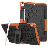Hybride TPU Polycarbonaat iPad Air 3 (2019) & iPad Pro 10.5 inch case - Oranje Profiel Standaard