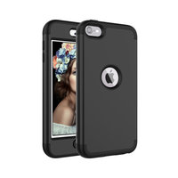 Armor Case iPod Touch 5 6 - Zwart hoesje - Extra Bescherming
