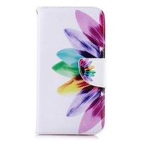 Bookcase Portemonnee Bloemen Hoesje wallet iPhone XR - Wit Roze