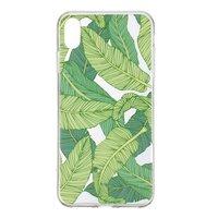 Doorzichtig TPU Hoesje bladeren iPhone XR - Groen