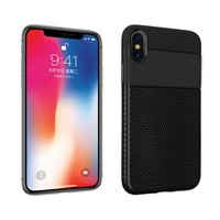 Flexibel Anti Slip TPU Hoesje iPhone XR - Zwart