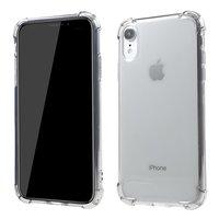 Transparante Shockproof Case TPU iPhone XR - Transparant Grijs
