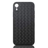 Geweven TPU Hoesje iPhone XR - Zwart