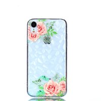 Diamant hoesje TPU iPhone XR Case - Bloemen