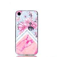 Diamant hoesje TPU iPhone XR Case - Roze