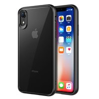 Doorzichtig Hoesje iPhone XR Transparant Case - Zwart