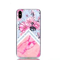 Diamant hoesje TPU iPhone XS Max Case - Roze