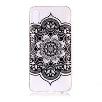 Mandala hoesje TPU iPhone XS Max Case - Zwart Transparant