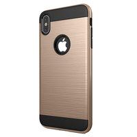 Beschermend Brushed hoesje iPhone XS Max Case - Goud
