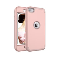 Armor Schokbestendig Silicone Polycarbonaat iPod Touch 5 6 7 hoesje - Roze
