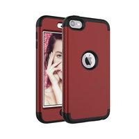 Armor Schokbestendig Silicone Polycarbonaat iPod Touch 5 6 7 hoesje - Rood